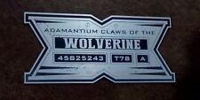 CUSTOM WOLVERINE CLAWS PROP DISPLAY PLACARD ADAMANTIUM