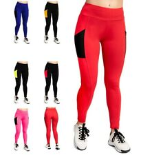 Ladies Light Long Running Gym Workout Active Pockets Leggings Pants for Womens
