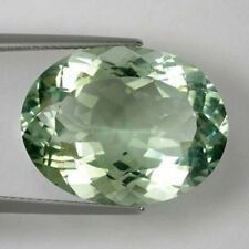 18x13mm OVAL-FACET VERY LIGHT LEAF-GREEN NATURAL BRAZILIAN AMETHYST GEMSTONE