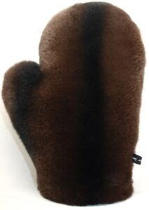 Fur Glove Rex Massage Wellness Stroke Chinchilla Look Chocolate Dark Brown