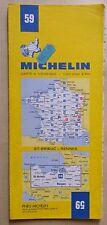 carte MICHELIN 59 SAINT BRIEUX - RENNES 1983