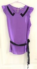 Women's Hot Options Purple Cap Sleeve Top (Size 12)