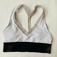 Lululemon Womens Sports Bra T Back Padded Used Gym Yoga Dance Workout Size 4