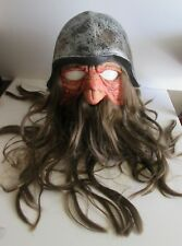 2001 Don Post MOTORHEAD BIKER Mask FULL HEAD Helmet HAIR Mustache Beard LIFELIKE