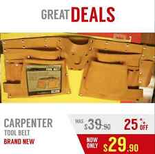 CARPENTER TOOL BELT, VERY NICE, LETHER , VERY RESISTANT, FAST SHIPPING