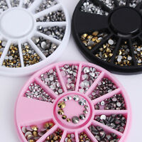 3D Nail Art Decoration Rhinestone  Tips DIY Decor Flat Bottom Mixed Size