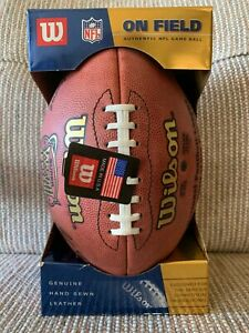 SUPER BOWL XXXVIII 38 Authentic Wilson NFL Game Football **PANTHERS--PATRIOTS**