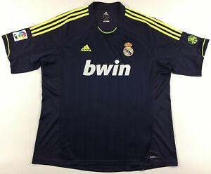 Real Madrid 2012 2013 away navy blue 110 years Adidas jersey shirt camiseta 2XL