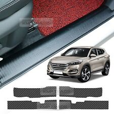 Door Scuff Step Carbon Cover Scratch Anti Protector for HYUNDAI 16-17 Tucson TL