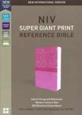 BRAND NEW NIV PINK IMITATION LEATHER GIANT PRINT REFERENCE BIBLE-2048 PAGES