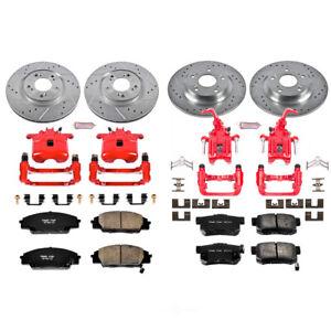 Disc Brake Kit Front Rear Power Stop KC2277 fits 00-09 Honda S2000