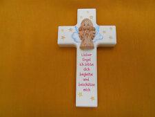Kinderkreuz m.Schutzengel Taufkreuz Taufe Geburt Holzkreuz für Mädchen  Neu