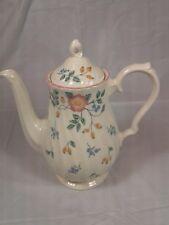 Churchill Pottery Tea Pot Briar Rose Staffordshire England Pink Roses