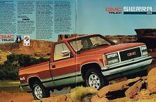 1991 GMC SIERRA PickUp Truck Brochure w/Color Chart: SL,SLX,SLE,4x4,4WD,C/K-1500