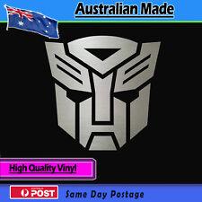 Sticker -Transformer Autobot Logo Sticker Brushed Alloy Effect Vinyl Decal