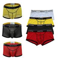 UK Men Sexy See Through Mesh Boxer Briefs Bikini Swim Trunk Underwear Underpants