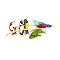 Betsey Johnson Colorful Enamel Tree Branch Birds Charm Brooch Pin Jewelry Gift