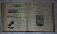 RUGBY FOOTBALL MAGAZINE VOLUME 1 BOUND 1923 - WEEKLY PUBLICATION 34 ISSUES