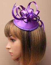 Large Purple Headband Aliceband Hat Fascinator Wedding Ladies Day Race Ascot