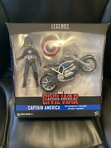 "3.75"" Marvel Universe 3 3/4 Scale Action Figure Captain America Motorcycle Bike"
