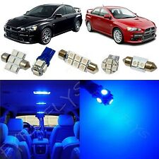 7x Blue LED lights interior package kit for 2007-2014 Mitsubishi Lancer ML1B