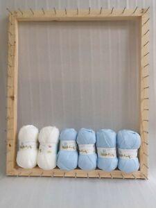 Frame/loom to make large pom pom blankets 31.5 x 26 inches  instructions KIT