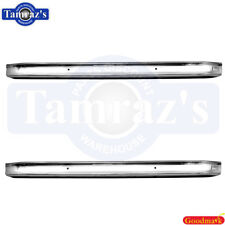 66-77 Ford Bronco Bumper Front AND Rear Bumper CHROME Plated New Goodmark