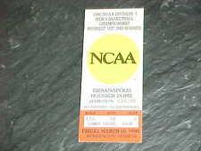 1990 NCAA Basketball Championship Tournament Midwest Ticket Georgetown Hoyas
