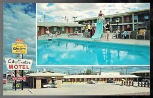 VINTAGE 1960-1970 CITY CENTER MOTEL ROUTE 66 HOLBROOK ARIZONA ROADSIDE POSTCARD