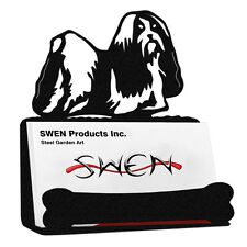 Shih Tzu Dog Black Metal Business Card Holder