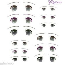Parabox Obitsu 1/6 bjd Doll Dollfie Head Deco Eye Decal Sticker 08 (12 Pairs)