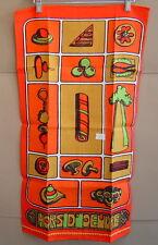 NWT Vintage CALIFORNIA HAND PRINTS Hors d'oeuvre TEA TOWEL Belgian Linen 30 x 16
