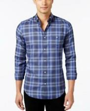New Calvin Klein Sz Large -Mens Blue plaid Lifestyle Long Sleeve Sport SHIRT - L
