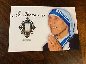 Saint Mother Teresa Hair Strand lock speck Relic Catholic COA ex Capillis photo