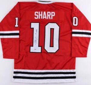 Patrick Sharp Signed Jersey Beckett Sticker Blackhawks Stanley Cup  Champion