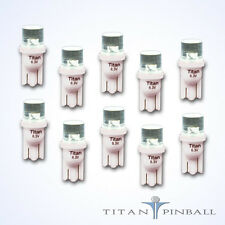 (10 Pack) - 6.3 Volt LED Bulb Flat Top 555 Base (T10) Pinball - COOL WHITE