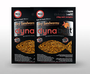 Dynabait Sand worms 1Kg x 2 (2kg wet weight, equals 60 small Dynabait satchels)
