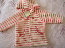next baby girl soft fluffy hooded coat jacket warm 9-12m NWT