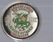 """Dragon Force Pilsung Crusaders   Challenge Coins 2 """" DIA"""