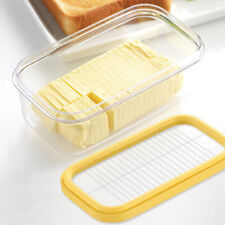 2 in 1 Butter Dish Butter Serving Tray with Lid Cutter /Slicer Container Box
