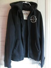 Navy Hollister hoodie with zipped in removable gilet, size M, immaculate