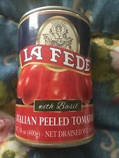 La Fede Italian Peeled Tomatoes with Basil best by: 12/31/2023 Plus Bonus