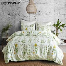 Plant leaf floral print bedding set duvet quilt cover pillowcase bedroom set