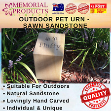 Pet Urn Outdoor - Smooth Natural Sandstone
