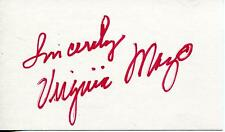 """Virginia Mayo """"The Best Years Of Our Lives"""" Actress Signed Card Autograph"""
