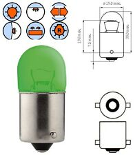 AMPOULE 12V 5W BA15S VERT VOITURE LAMPE STOP PHARE CLIGNOTANT POSITION MOTO