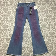Yoyo Womens Jeans 11 12 new nwt $74 Medium Wash Flare Boho Bohemian Hippie nwt