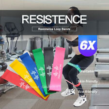 6PCS Resistance Bands Power Strength Exercise Fitness Gym Crossfit Yoga Workout