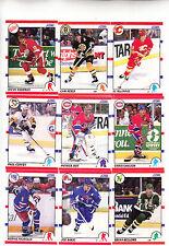 LOT (14) 1990-91 SCORE HOCKEY CARDS #3-16 COFFEY,ROY,YZERMAN,NEELY - NM/MT