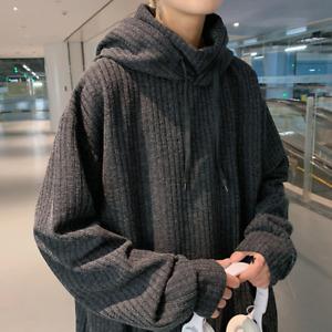 Men New Solid Color Corduroy Long Sleeve Casual Sweatshirt Autumn Winter Hoodie
